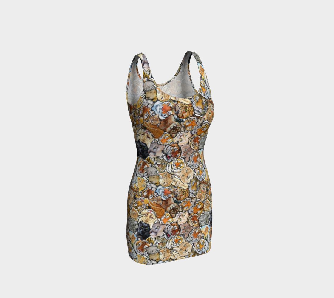 Big Cat Collage - Bodycon dress preview