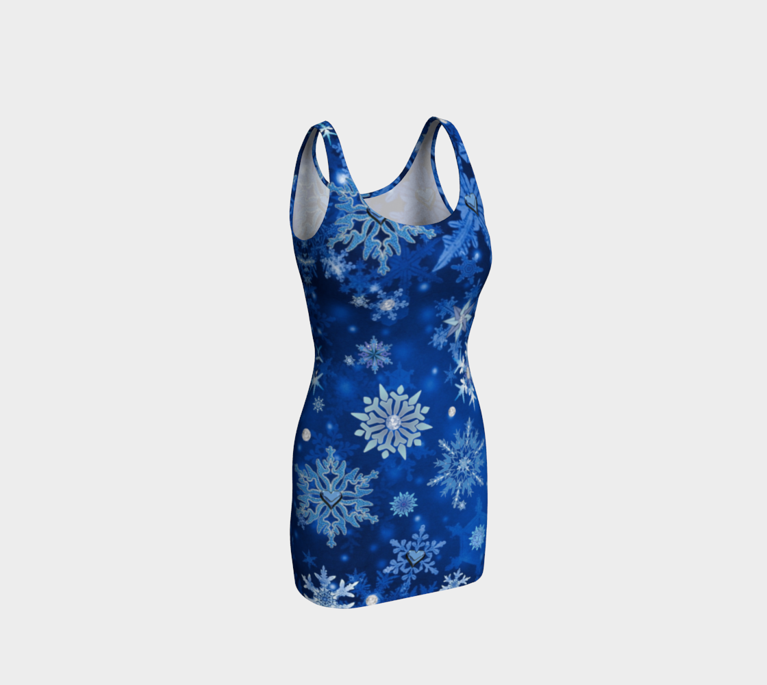 Blue Snowflakes Christmas Winter Holidays preview