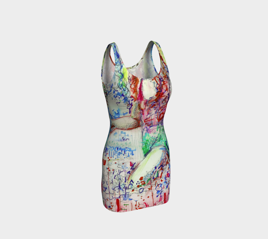 Here Comes The Sun / Talking-Girl Print Dress preview