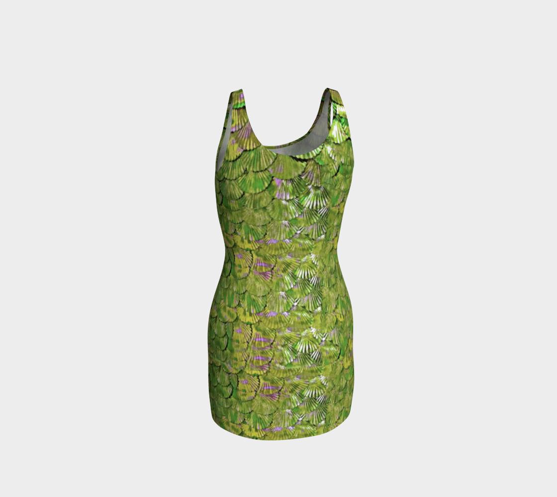 Citrus Mermaid Wiggle Dress preview #3