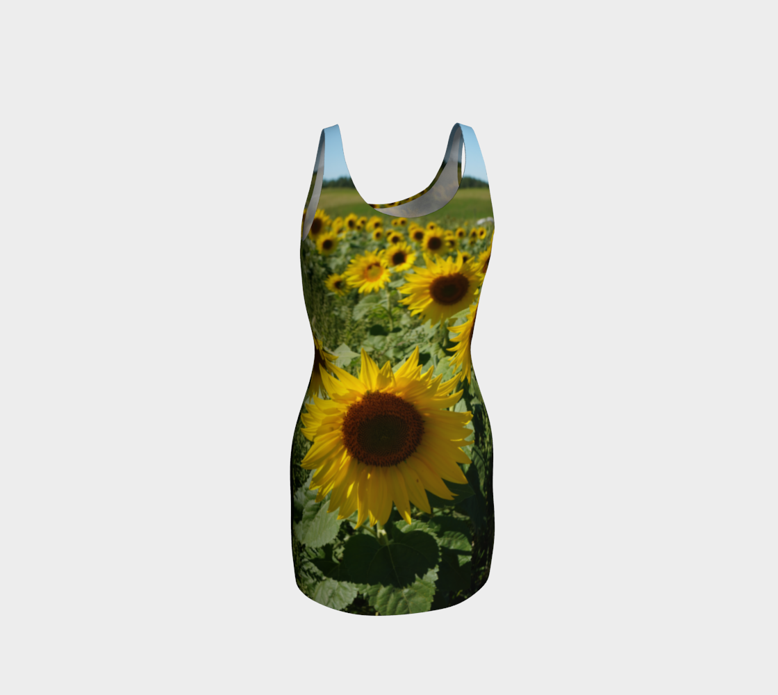 Large Sunflower Wiggle Dress preview #3