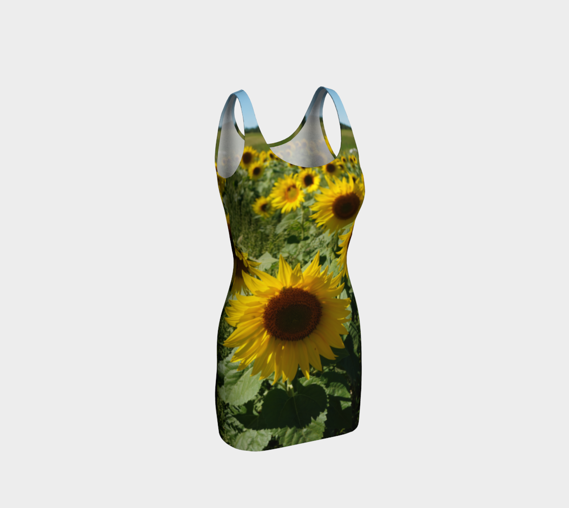 Large Sunflower Wiggle Dress preview