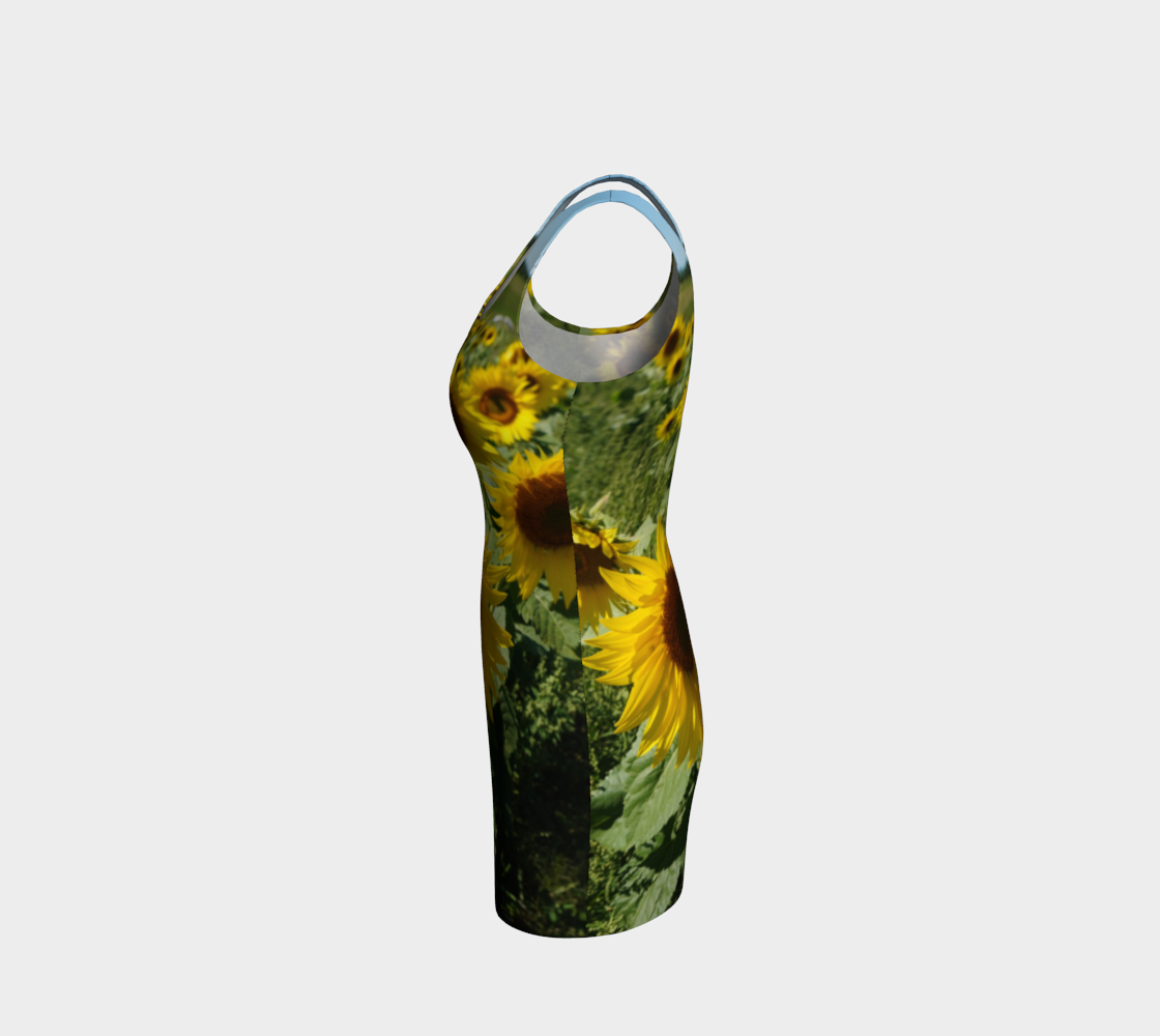 Large Sunflower Wiggle Dress preview #2