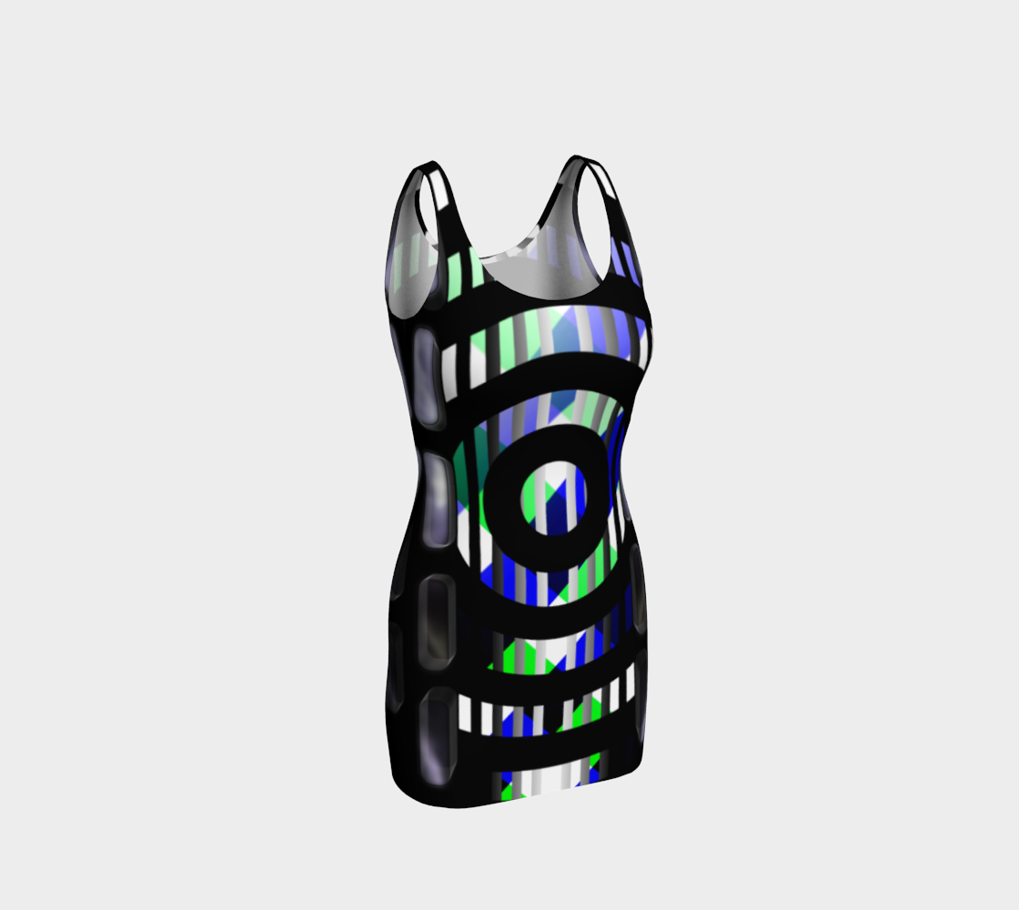GEOMask Rings Bodycon Dress preview