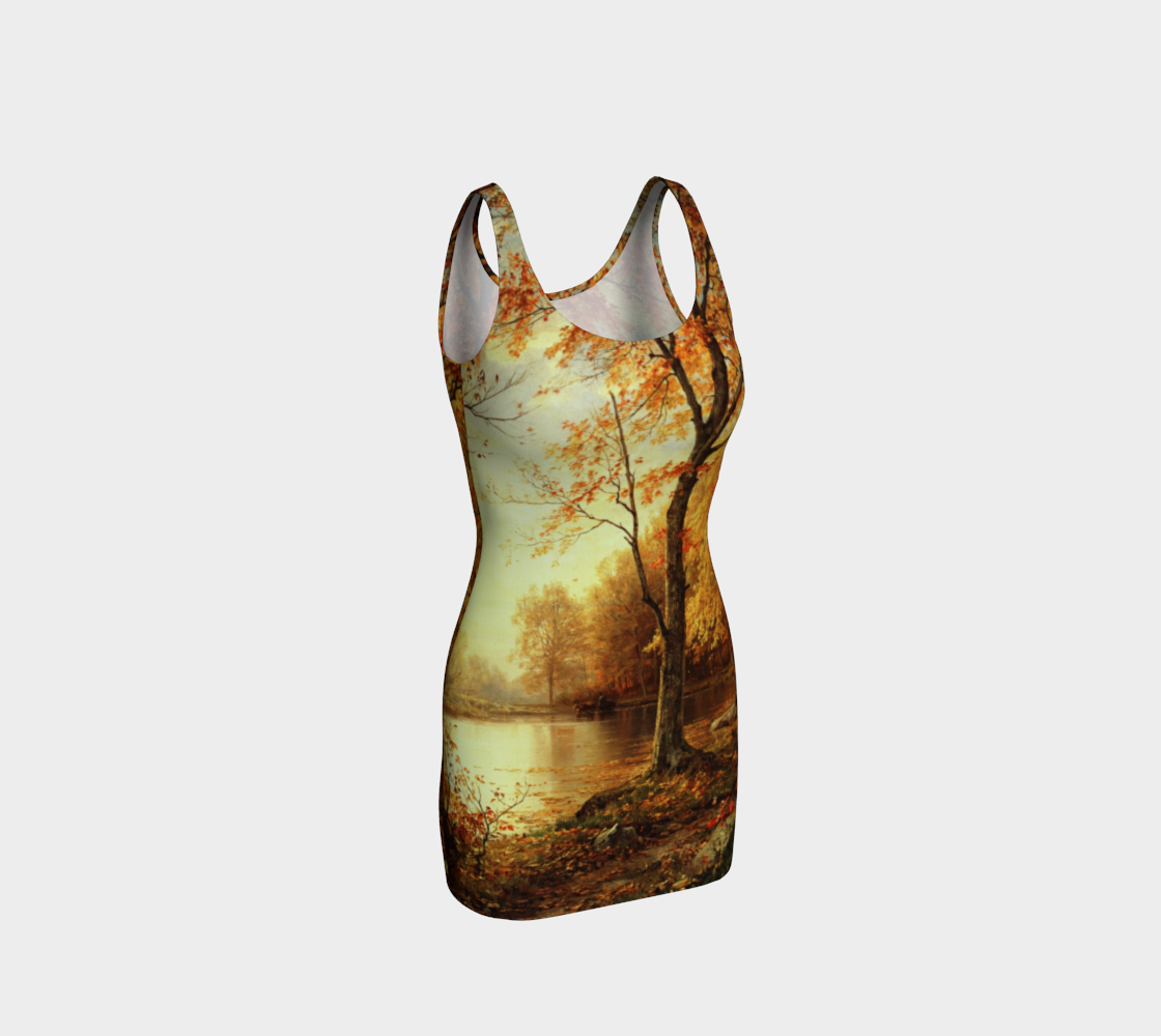 Indian Summer by William Trost Richards Bodycon Dress preview
