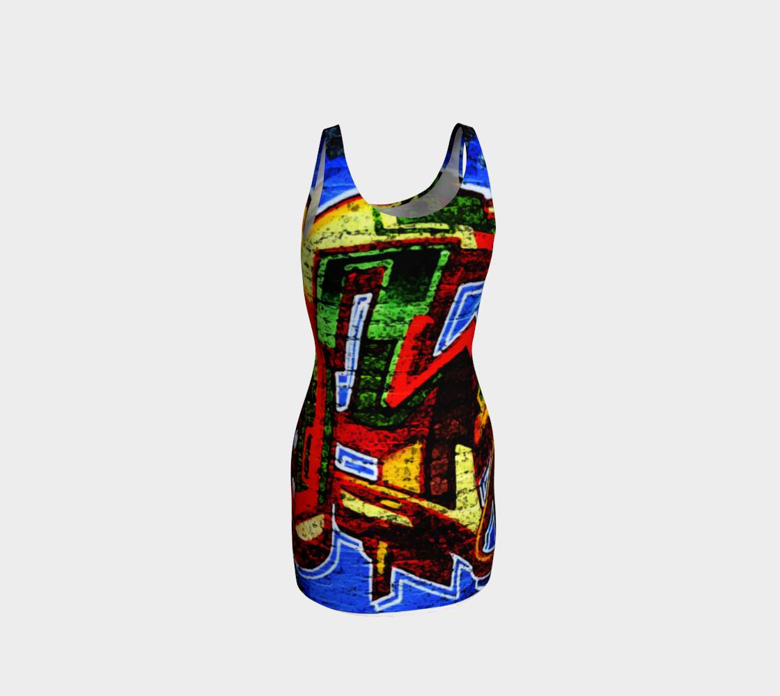 Graffiti 17 Bodycon Dress preview #3