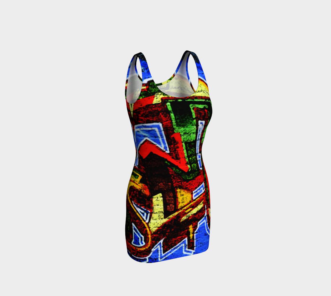 Graffiti 17 Bodycon Dress preview