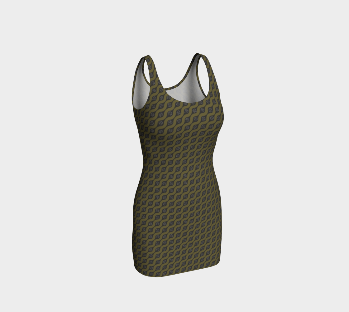 Curving Line in Olive Green preview