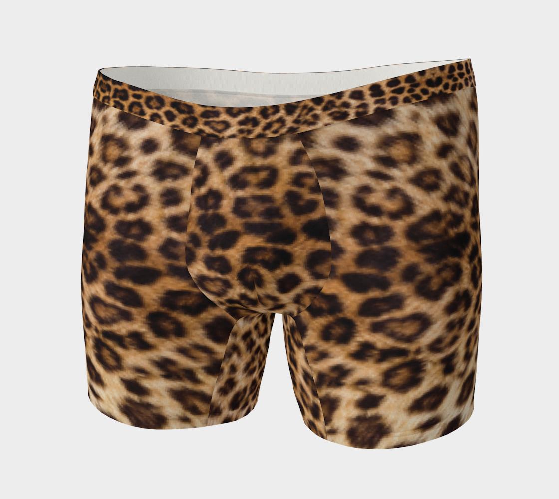 Leopard Print Pattern Boxer Briefs preview