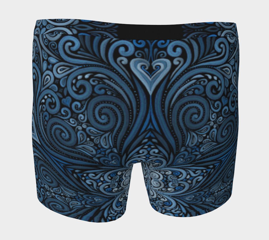 Aperçu de Blue 3D Heart Mandala  #4