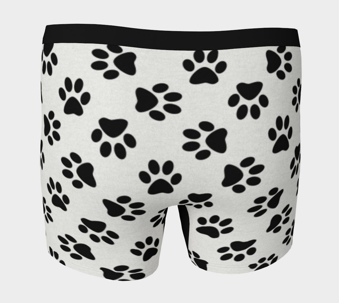 Aperçu de Dog Paw Print Pattern Boxer Breifs For Dog Lovers #4