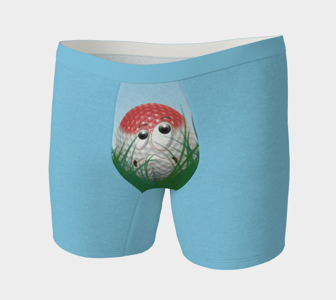 Funny Golf Gift Idea Golfer Humor Scared Golf Ball preview