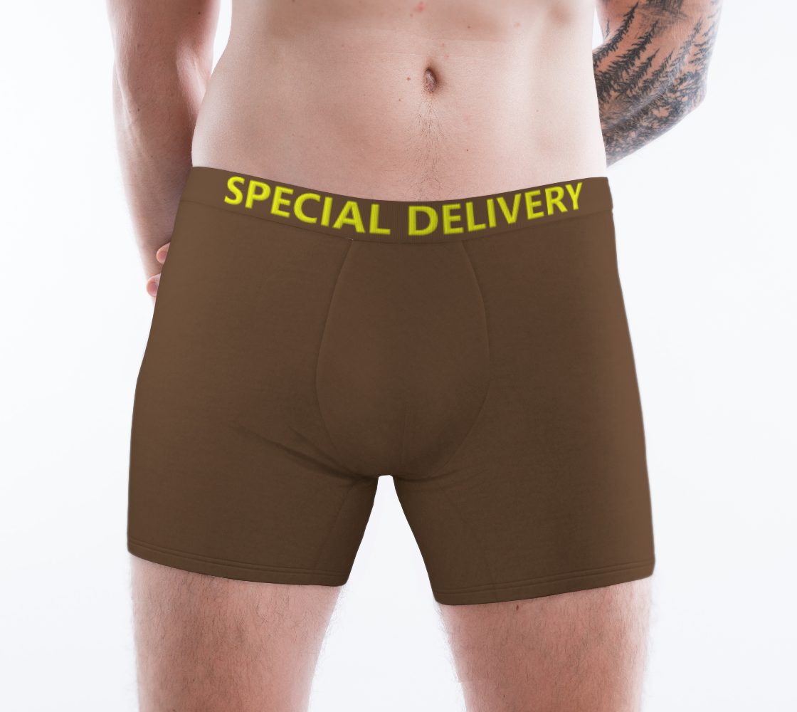 Funny Saying Text Special Delivery Brown Yellow Colors preview #1