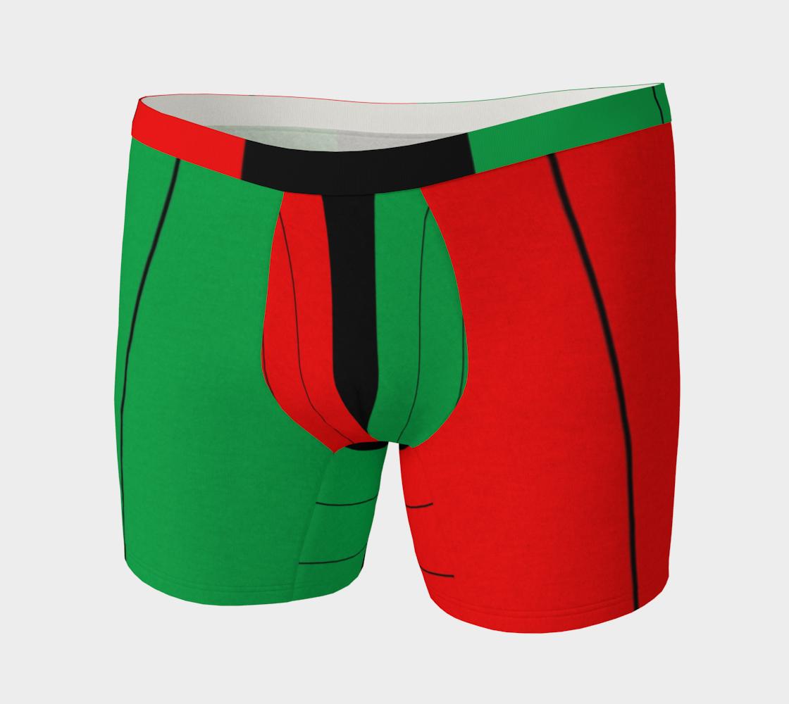Kwanzaa Kinara Stripes Red Black Green preview