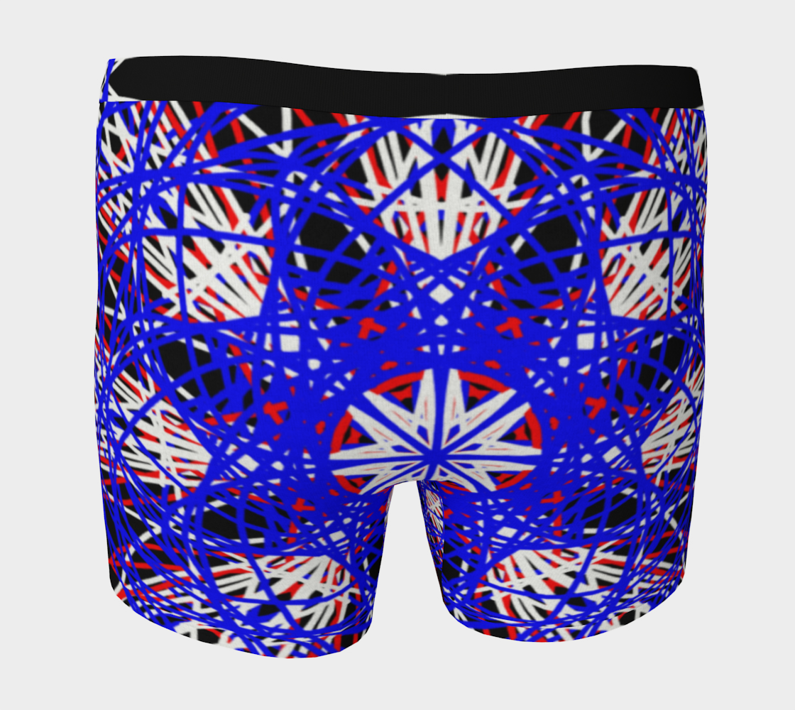 Red White Blue Black Abstract Kaleidoscopic Design Miniature #5