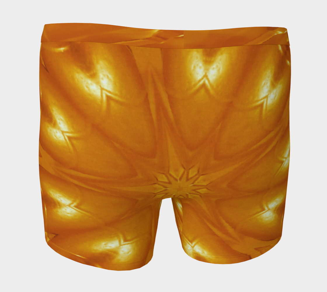 Aperçu de Orange Yellow Abstract Kaleidoscopic Flower #4