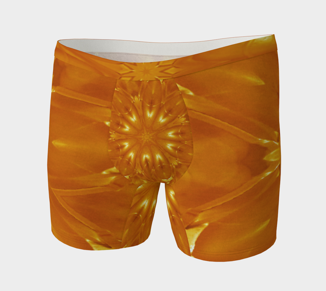Orange Yellow Abstract Kaleidoscopic Flower preview