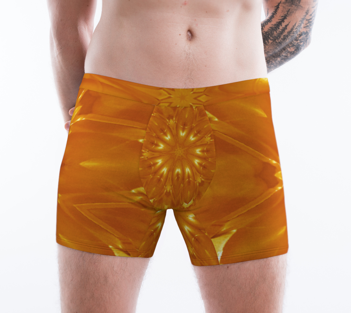 Aperçu de Orange Yellow Abstract Kaleidoscopic Flower #1