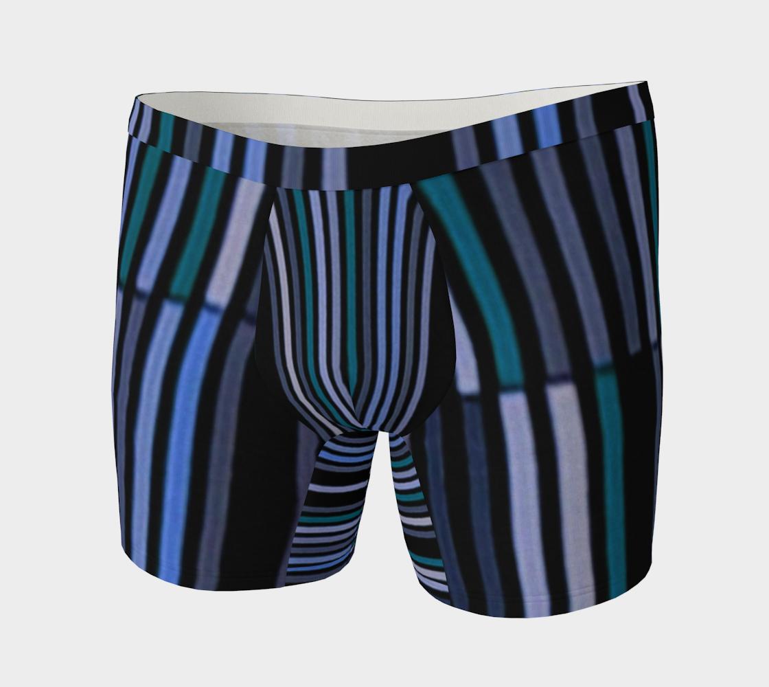 Shades of Blue Gray Modern Striped Pattern aperçu