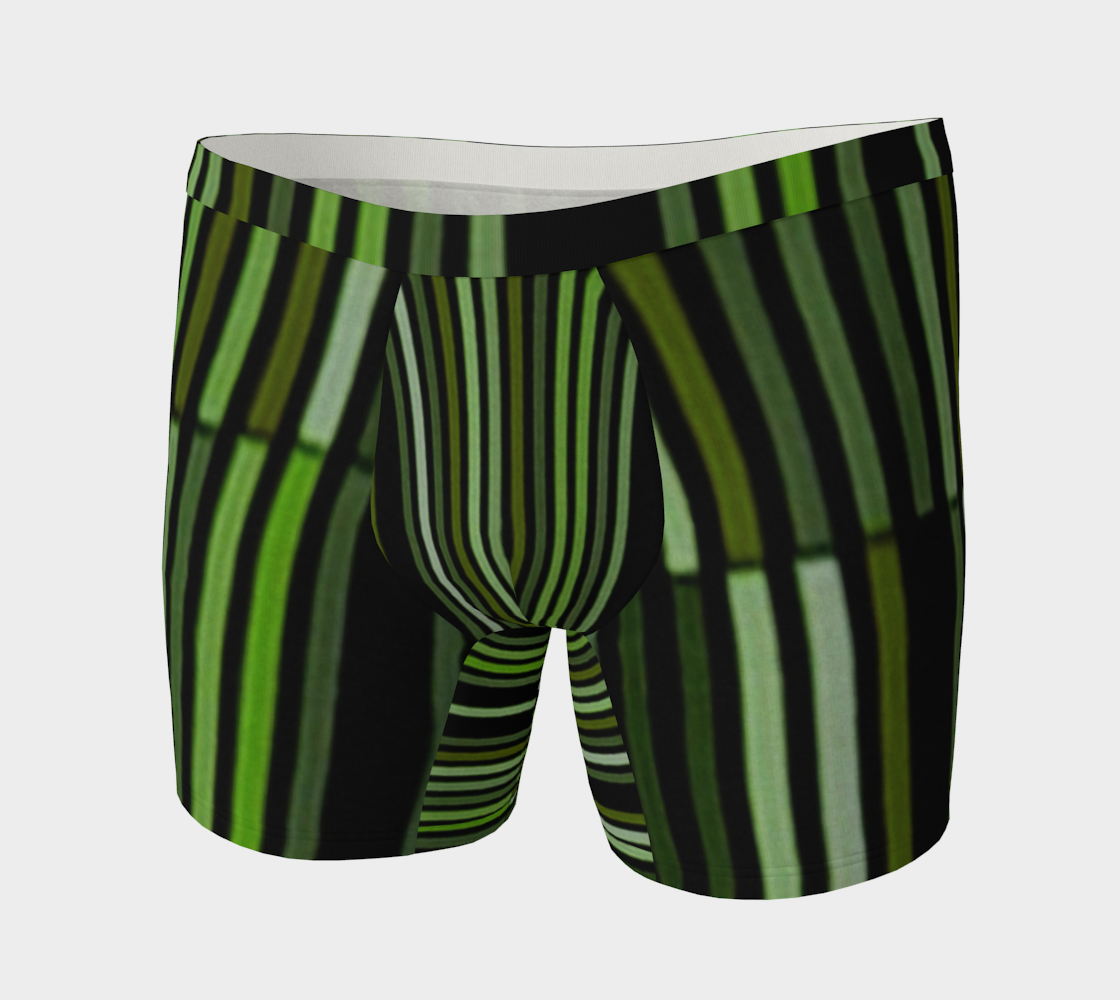 Shades of Green Black Modern Striped Pattern preview