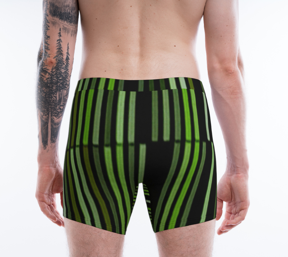 Shades of Green Black Modern Striped Pattern preview #2