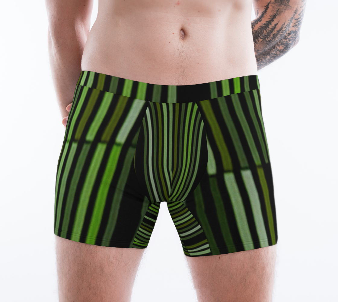 Shades of Green Black Modern Striped Pattern preview #1