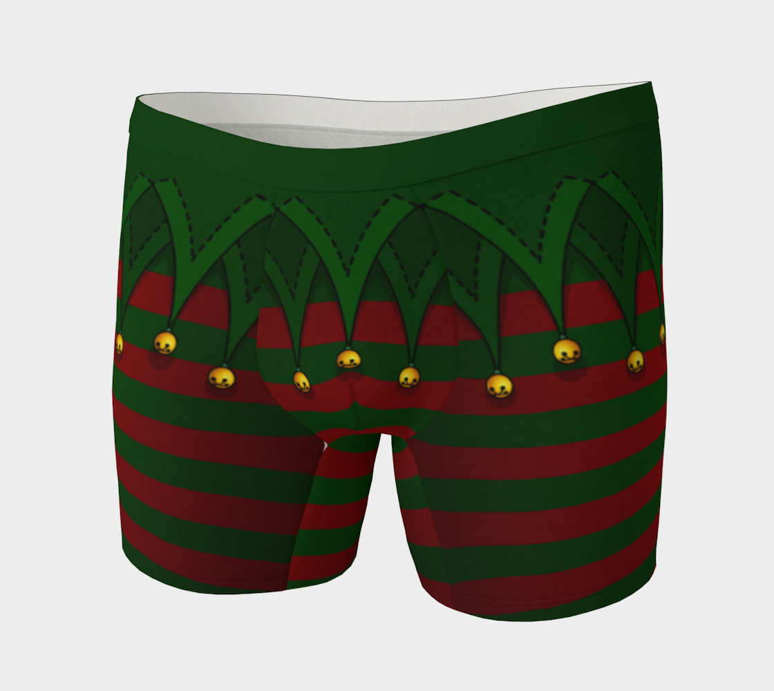 Christmas Elf Underwear Jingle Bells Boxer Shorts aperçu