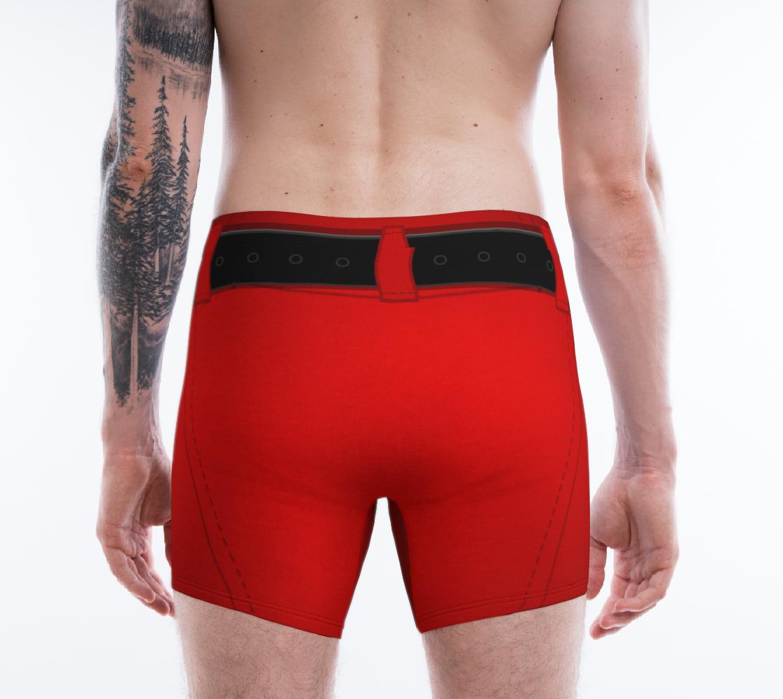 Aperçu de Funny Santa Underwear Christmas Boxer Briefs #2
