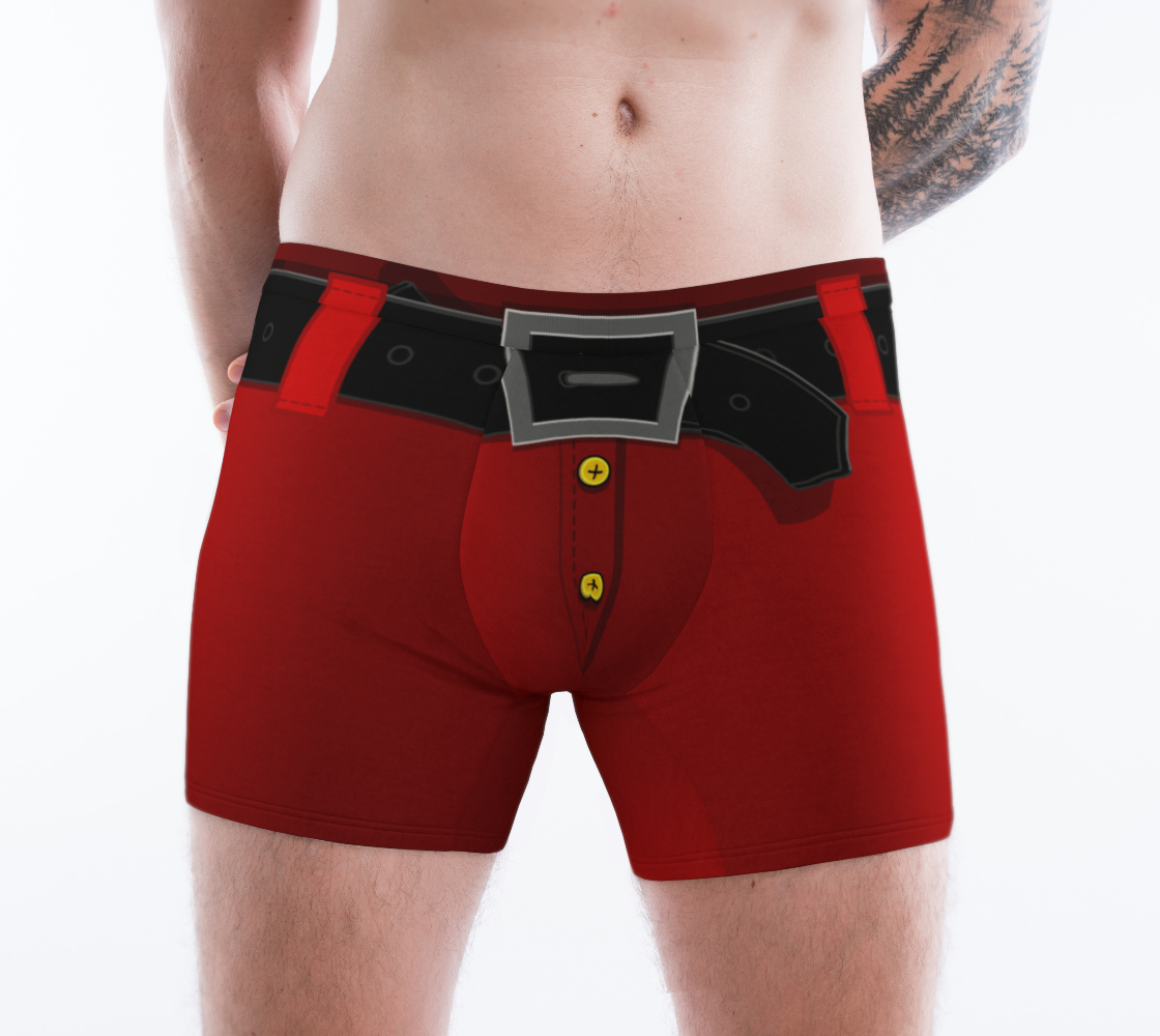 Aperçu de Funny Santa Underwear Christmas Boxer Briefs #1