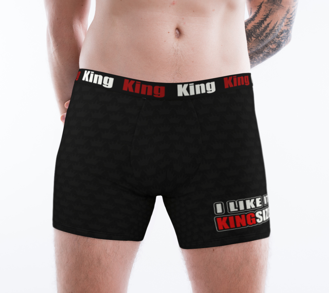 Men's Boxer Briefs Black Crown - I Like It KingSize 3D preview