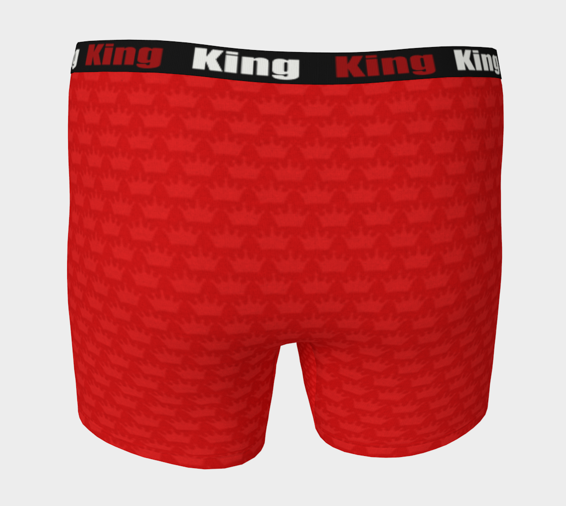 Men's Boxer Briefs Red Crown - I Like It KingSize preview #4