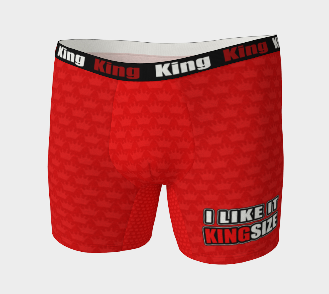 Men's Boxer Briefs Red Crown - I Like It KingSize preview