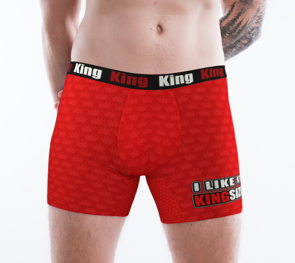 Men's Boxer Briefs Red Crown - I Like It KingSize preview #1