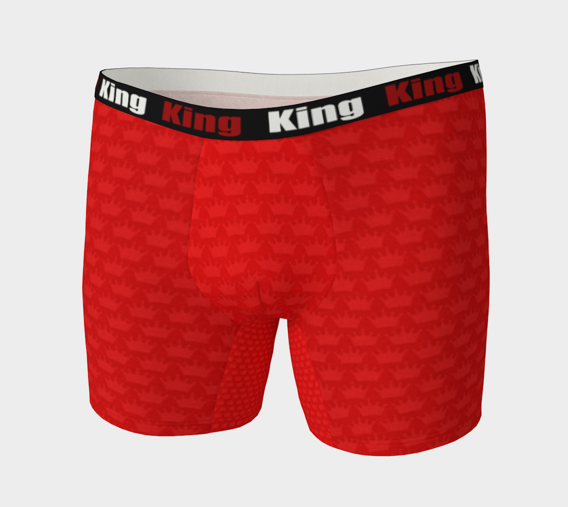 Aperçu de Men's Boxer Briefs Red Crown #3