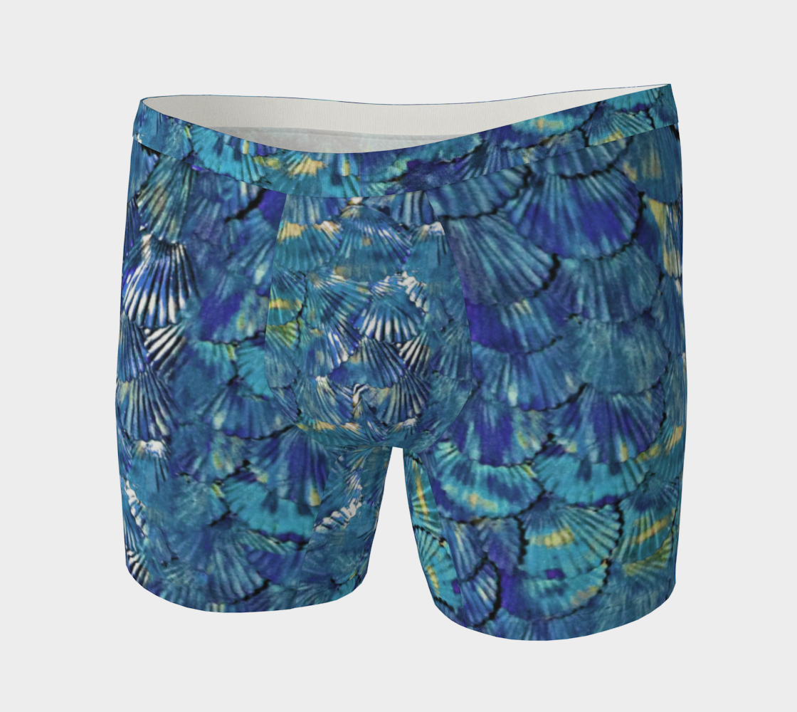 Blue Merman Scale Boxer-Briefs preview