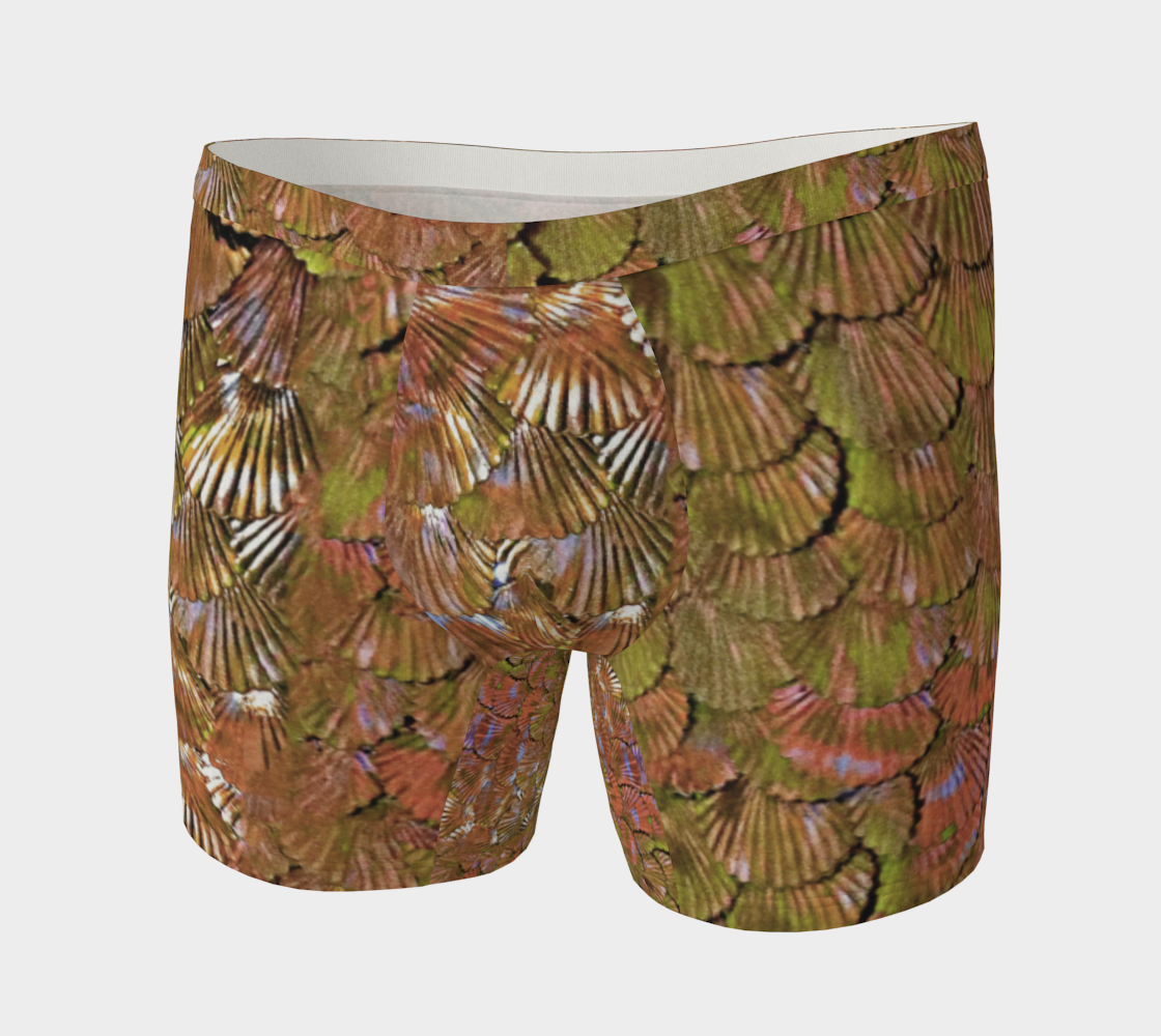 Rose Gold Merman Scale Boxer Briefs preview