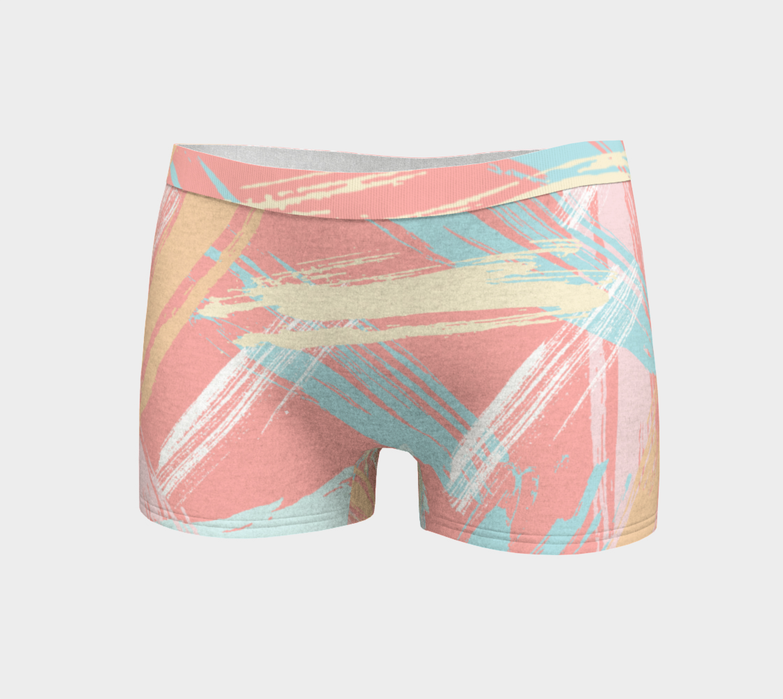 Pastel Abstract Brush Stroke Boyshorts preview