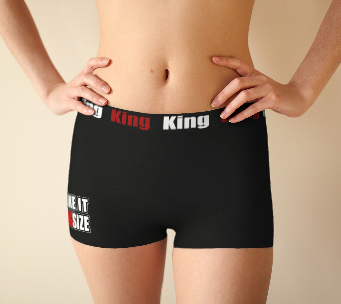 Girlshorts Little Black Crown - I Like It KingSize preview #1