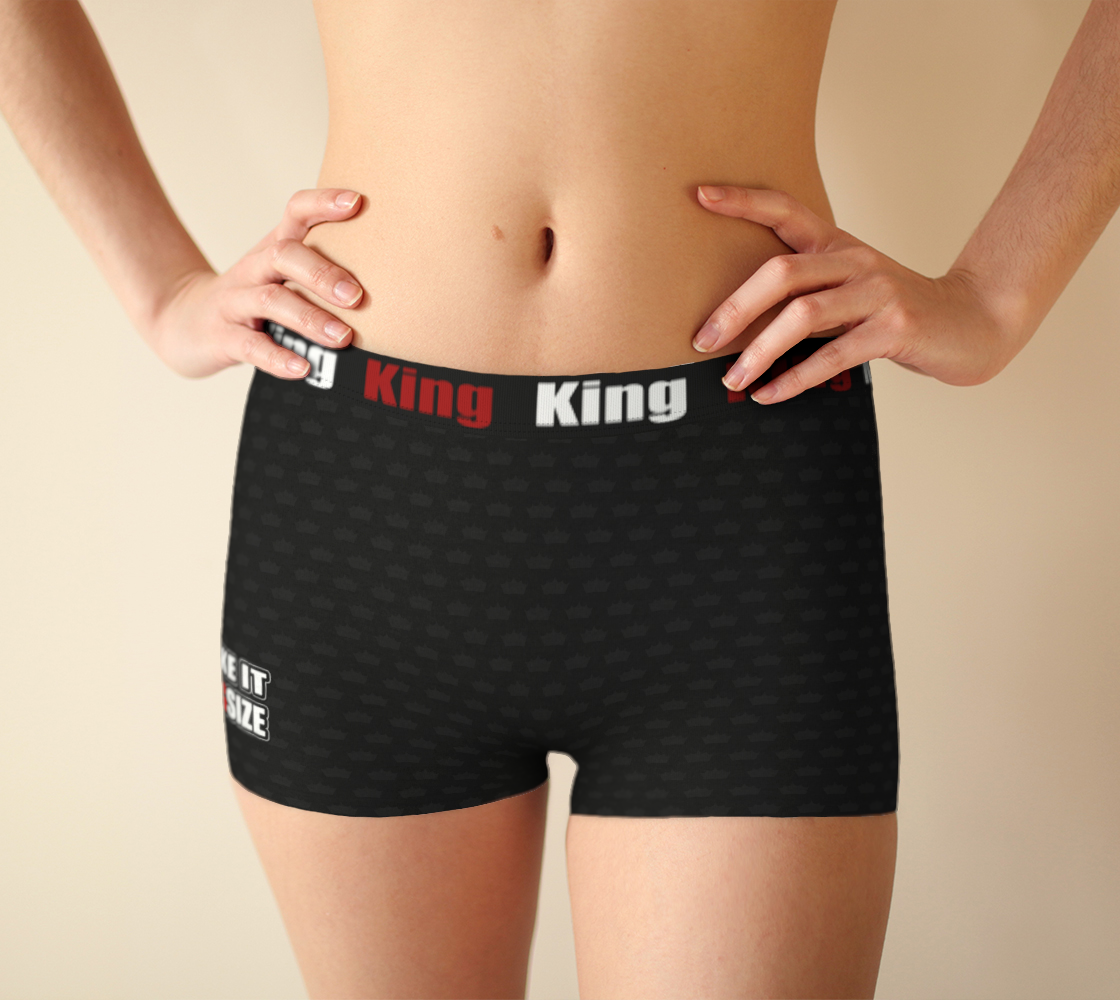 Aperçu de I like it KingSize - Black - Girlshorts #1
