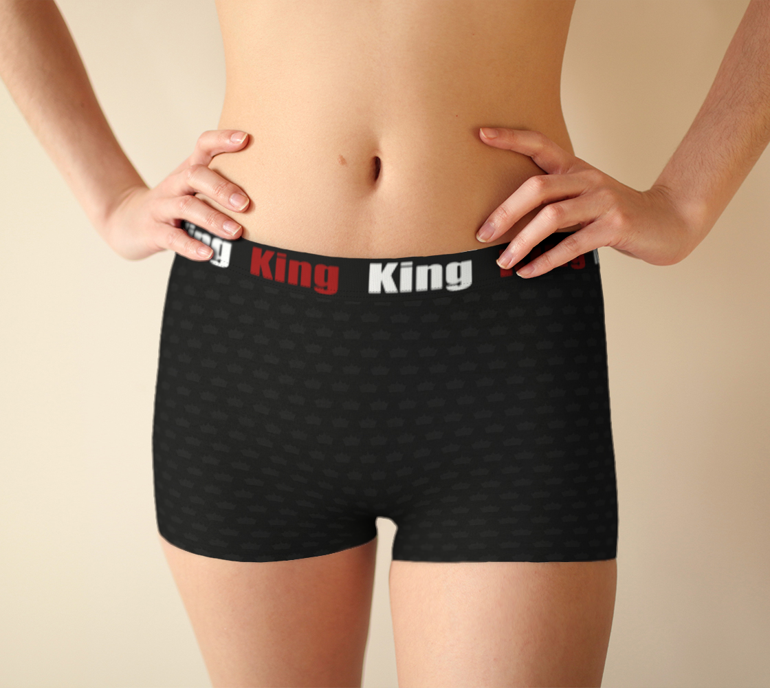 Aperçu de King - Little crown - Black- Girlshorts #1