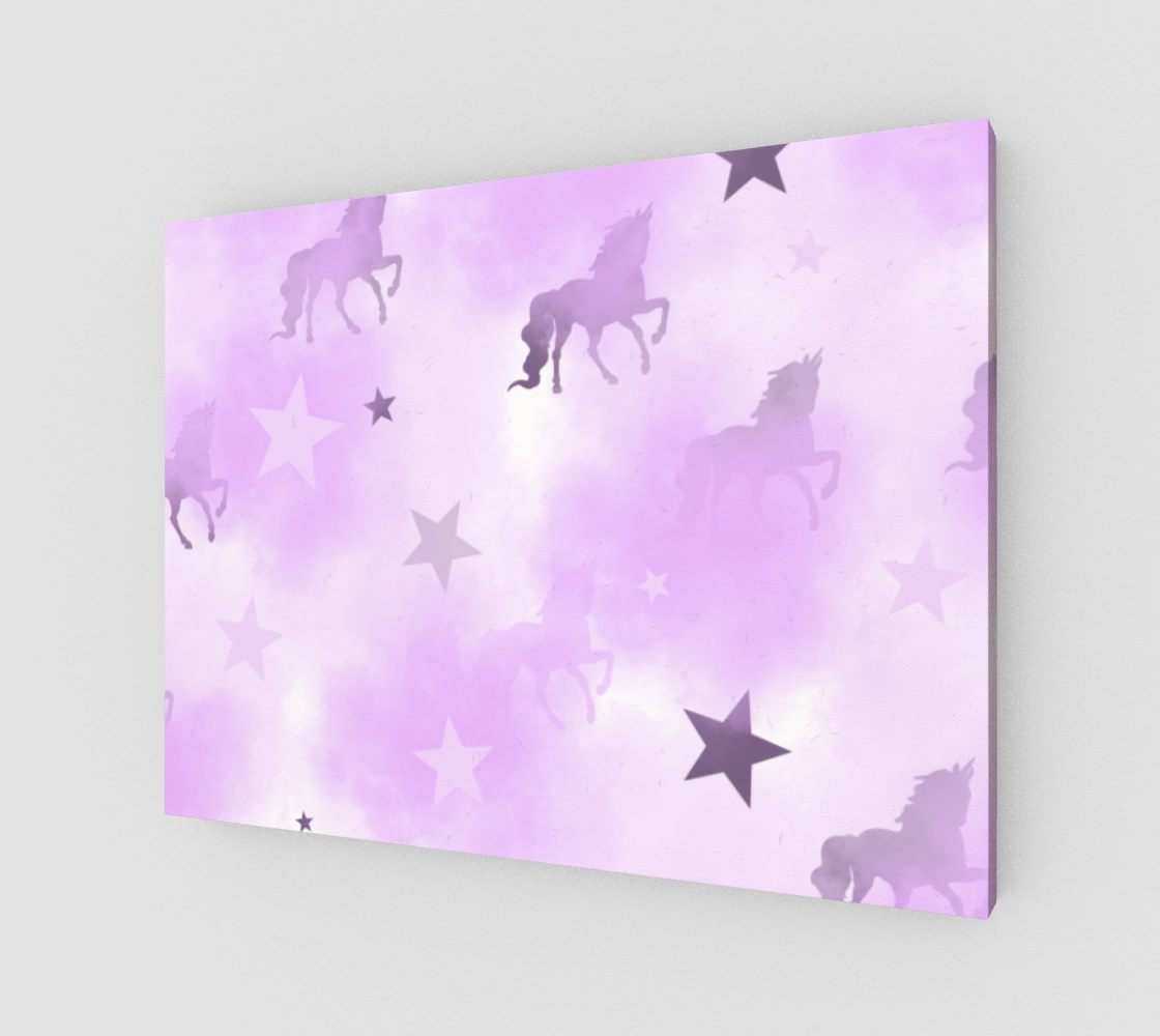 Mystical Dreams Unicorn Wall Canvas 32x24 preview #1