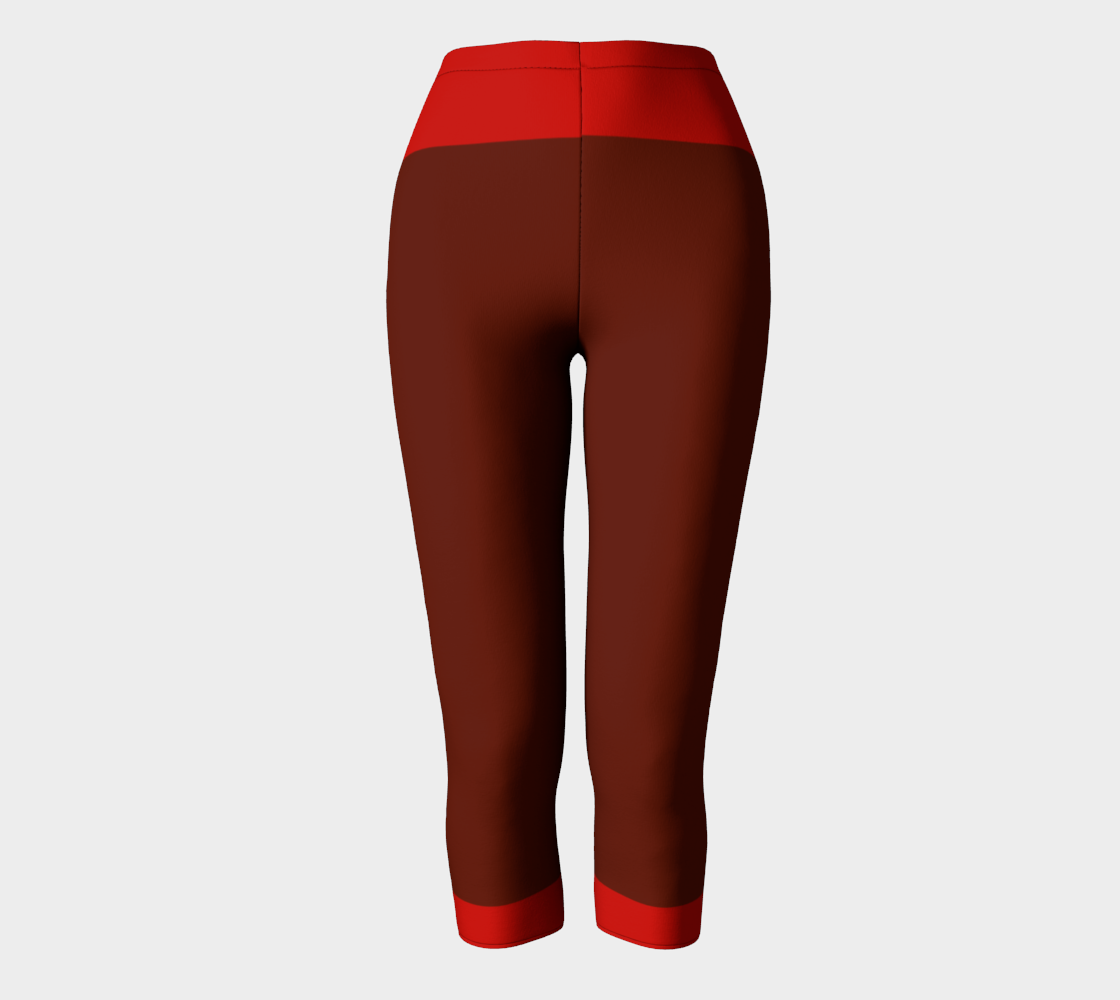 Brown Red  Stripes Compatible Capri preview