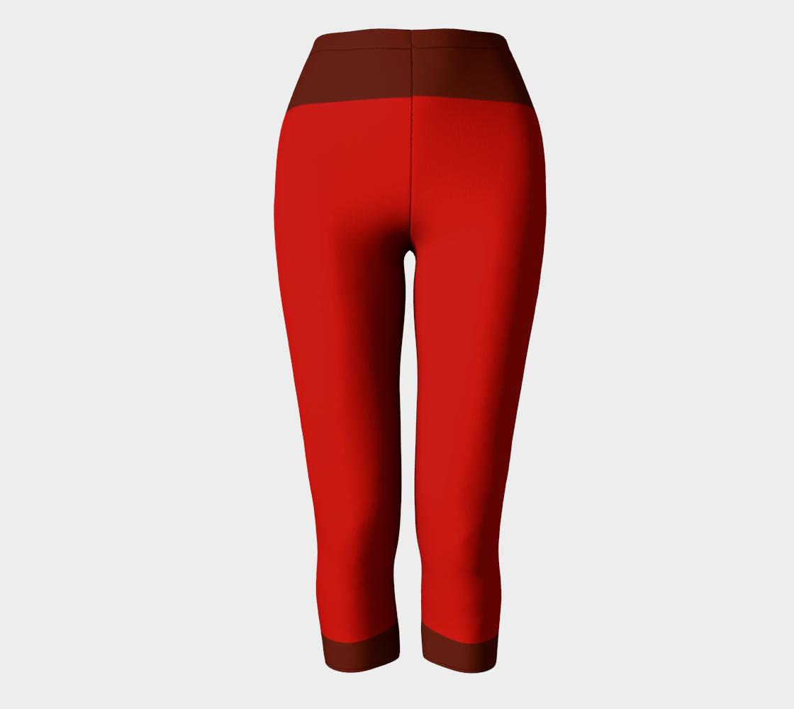 Red Brown Stripes Compatible Capri preview