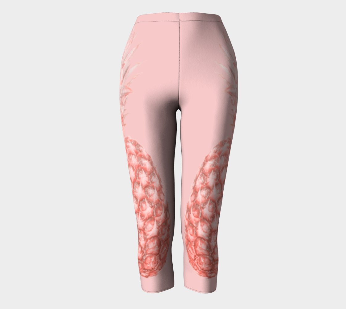 Pineapple in Millennial pink minimalist design preview