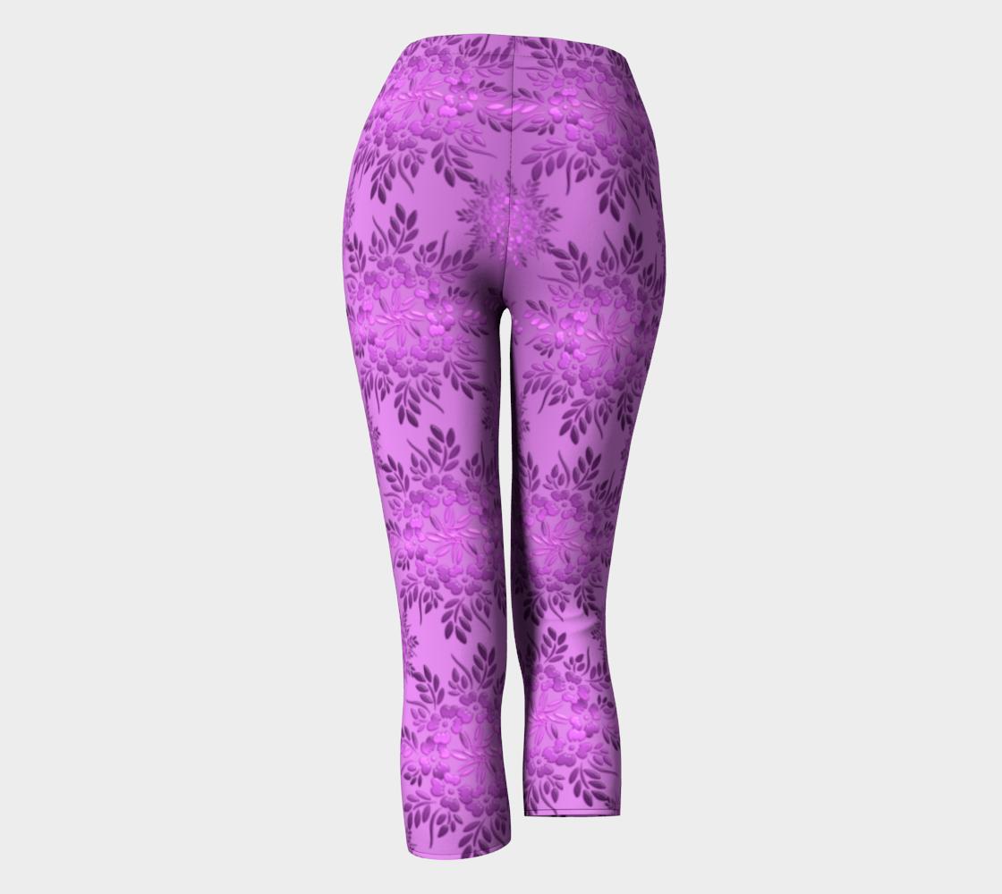 Retro Floral Violet Gradient preview #4