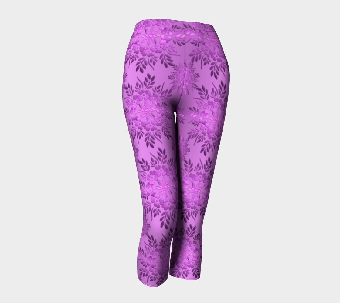Retro Floral Violet Gradient preview #1