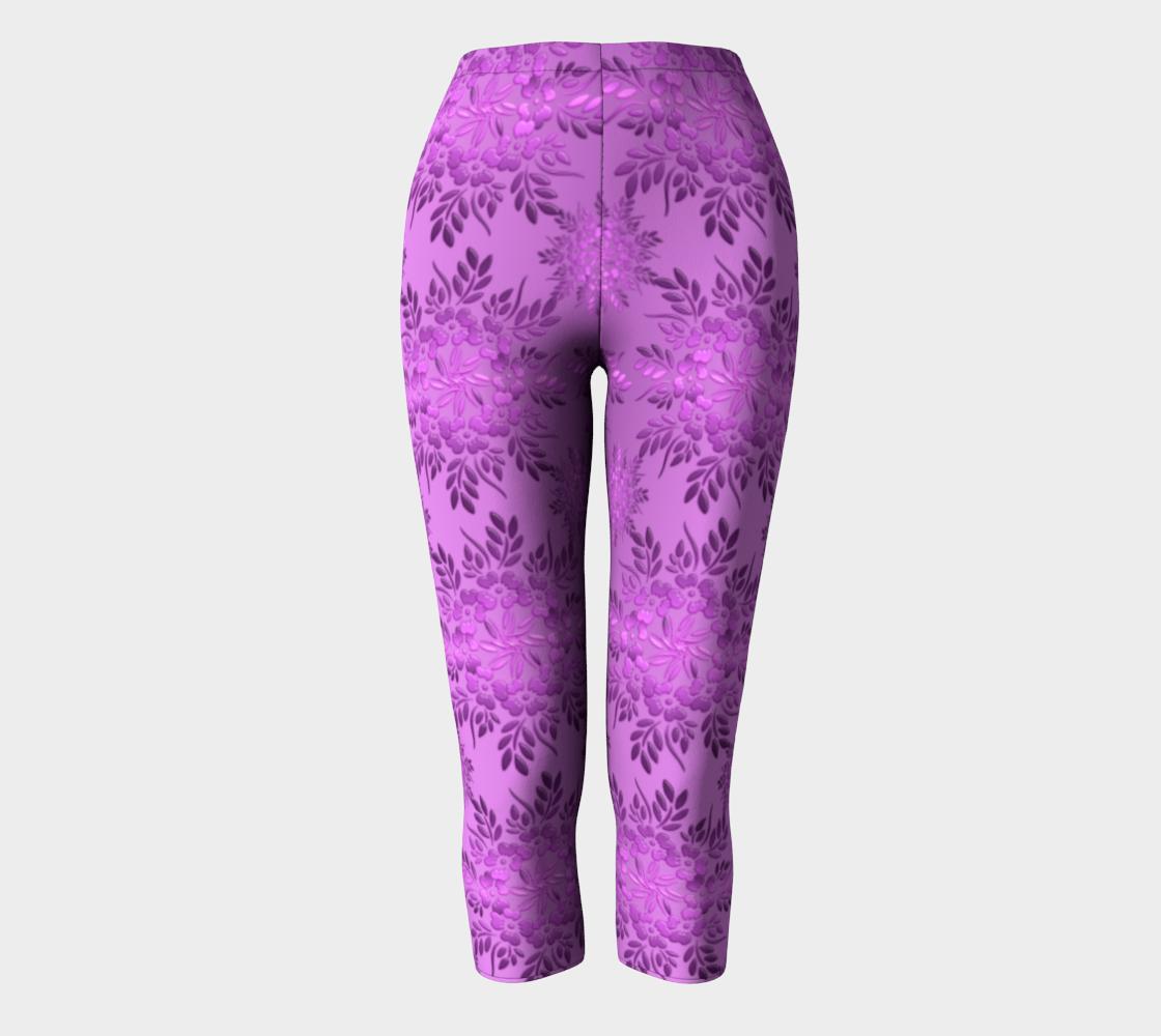 Retro Floral Violet Gradient preview