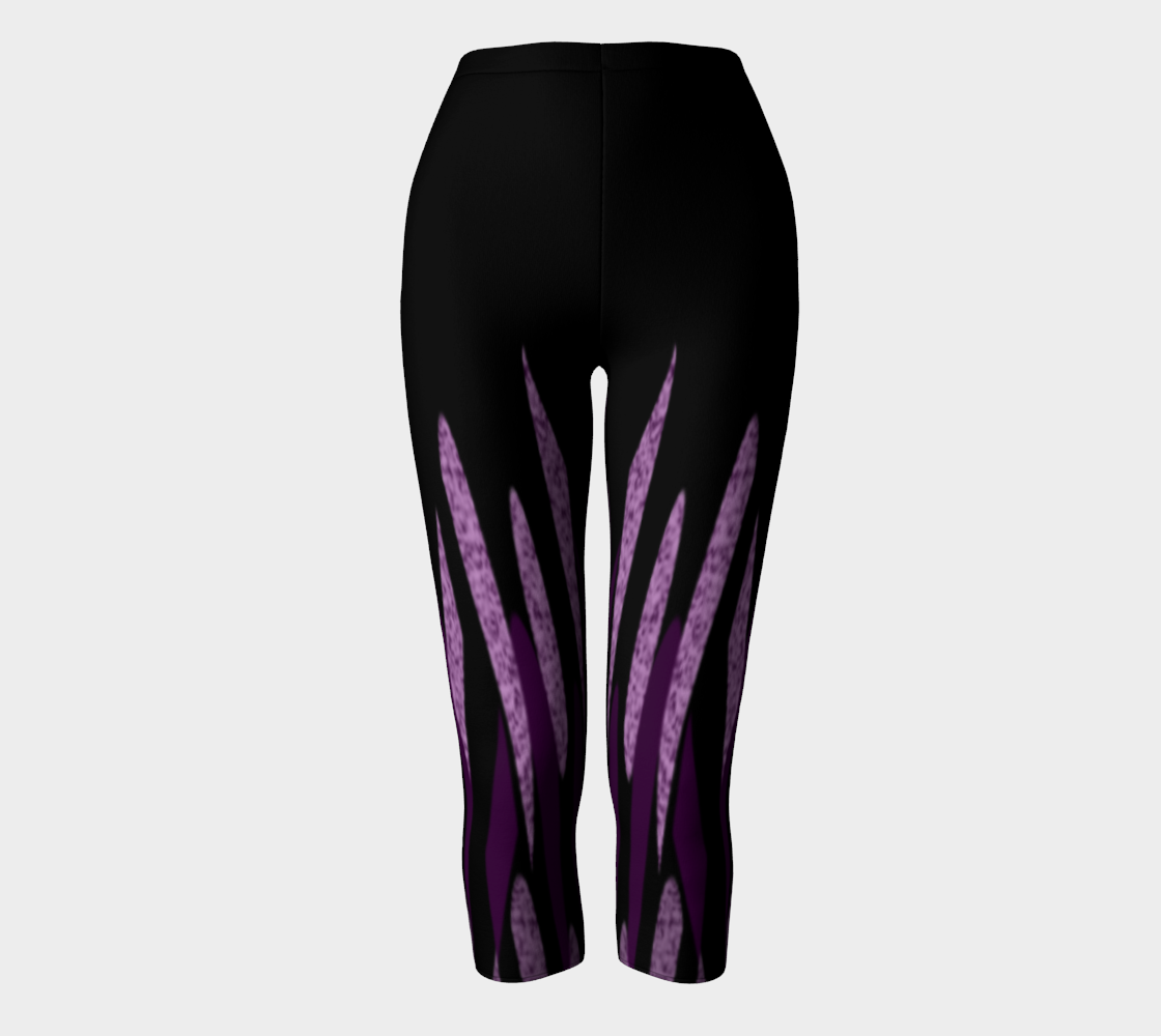 Purple Ice Abstract Capris preview