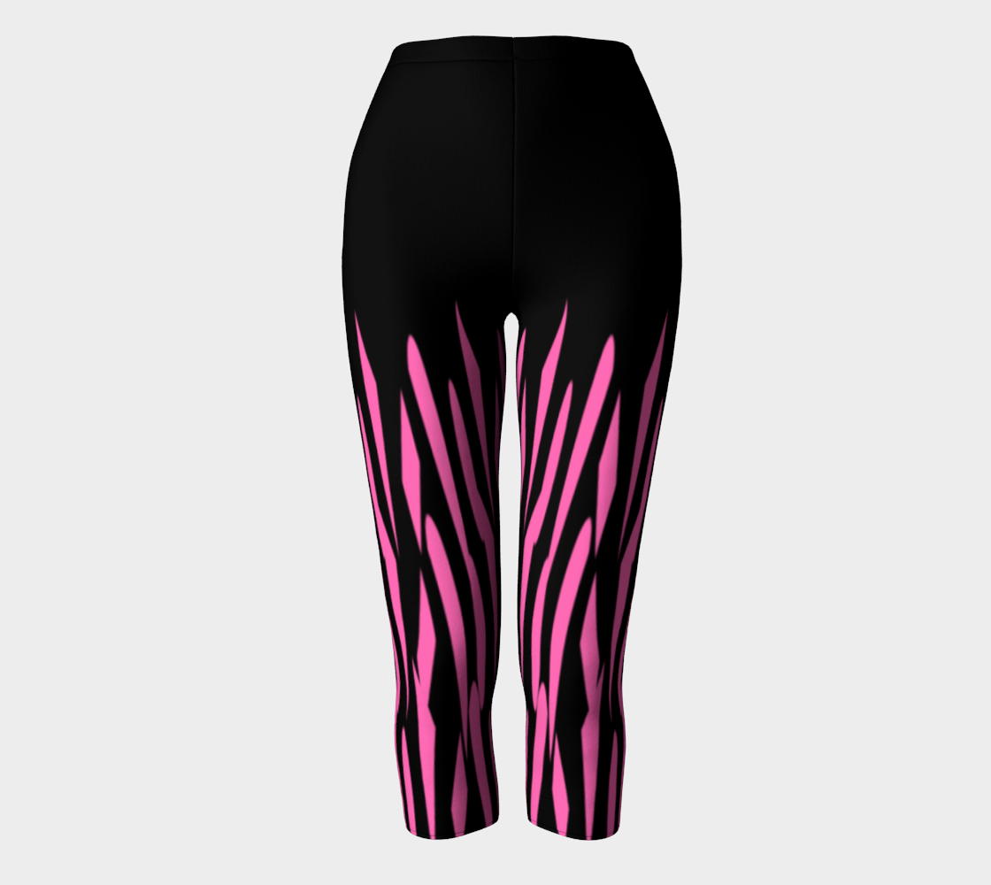 Pink and Black Ice Abstract Capris preview