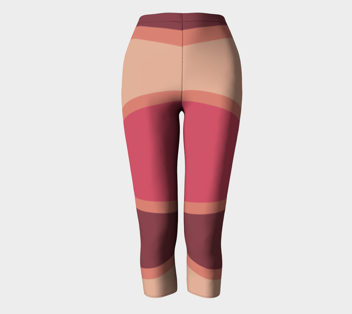 Romantic Blush Triangle Pattern Capris preview